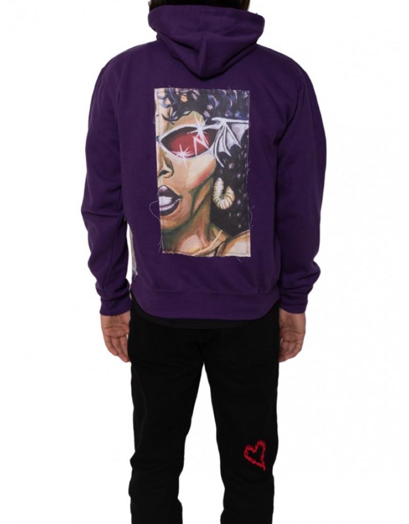 """Custom """"Psychedelic Moods"""" Purple Hoodie"""