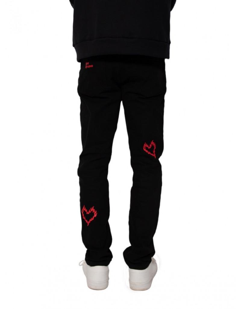 "Custom Print ""Love"" Jeans"