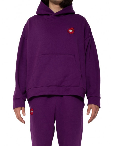"Hoodie & Pants Set ""Gold Smile"" Purple"