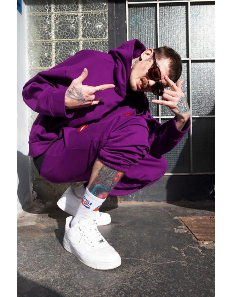 "Hoodie & Pants Set ""Gold Smile"" Purple"