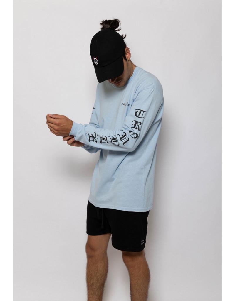 'Trouble' Blue Long Sleeve