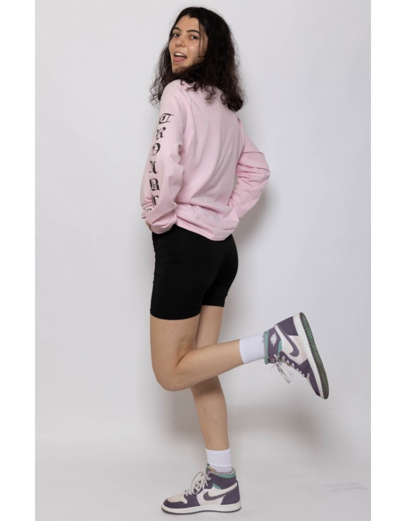 'Trouble' Long Sleeve Pink