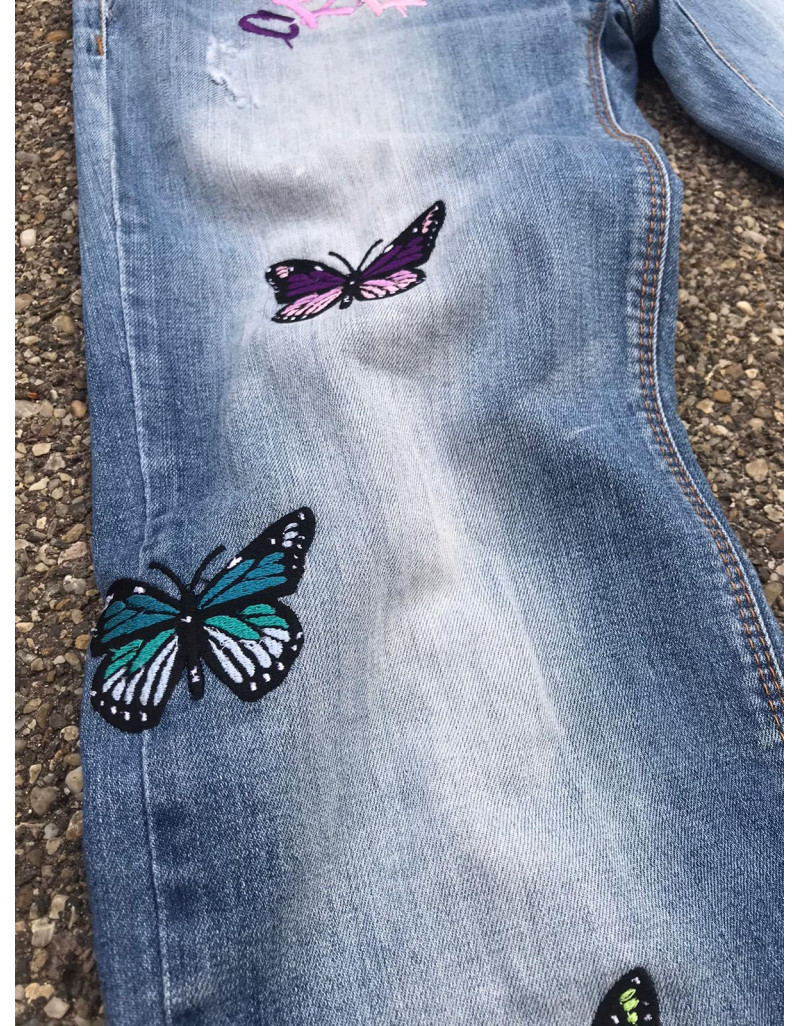 Custom Embroidered Jeans