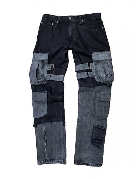 Denim Cargos Black