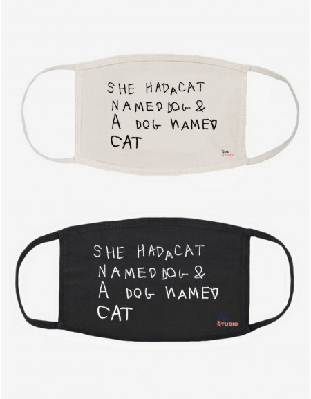 """Dog and Cat"" Face Mask"